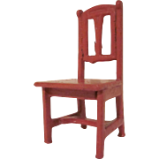 "Gottschalk 1"" Scale Kitchen or Bedroom Chair Dollhouse Furniture"