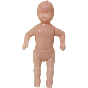 Plasco Plastic Jointed Baby Toddler Dollhouse Doll