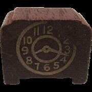 "Strombecker 3/4"" Mantle Clock Dollhouse Accessory"