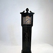 "Plasco 3/4"" Hard Plastic Grandfather Clock Dollhouse Furniture"