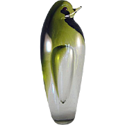 Pilgrim Glass Mid Century Modern Large Pigeon Figurine