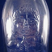 Clear Baby Nursing Bottle 'Happy Baby' c1940