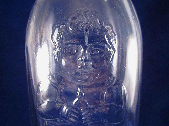 Clear Baby Nursing Bottle 'Happy Baby' c1940