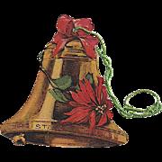 Cardstock Christmas Joys Bell Vintage Christmas Ornament