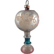 Vintage Glass Table Lamp Christmas Ornament