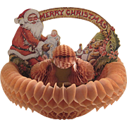 Beistle Fold Out Santa Christmas Basket Table Decoration