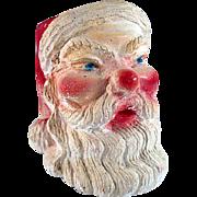 Vintage Chalkware Santa Head Container