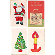 Bon Ami Glass Gloss Christmas 'Decals' Complete with Directions Not Used