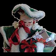 Christmas Shopper Table Top Decoration Crepe Paper +