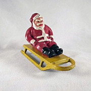 Barclay Winter Series Santa Claus Sitting on a Sled 2 Pieces