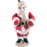 "Santa Claus Figure 7"" tall Made in Japan Sweet Face"