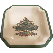Spode England China Christmas Tree Pattern Ash Tray