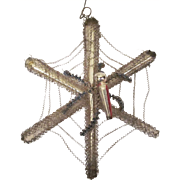 Victorian Wire Wrapped Spider Web Christmas Tree Ornament