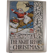 The Night Before Christmas Wee Book For Wee Folks Platt & Munk 1935 Hard Back  Book