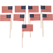 Flag Cupcake Picks with 48 Stars in a Cellophane Envelope - 9