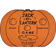 Vintage Halloween Jack-O-Lantern Fortune Game Not Used