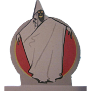 Made in U.S.A. Ghost with a Scary Face Placecard Halloween Decoration Not Used