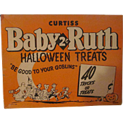 Vintage Curtiss Baby Ruth 1958 Candy Halloween Box 40 Count