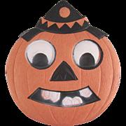 HOLD Small Germany Jackolantern Clown Head Halloween Diecut Decoration