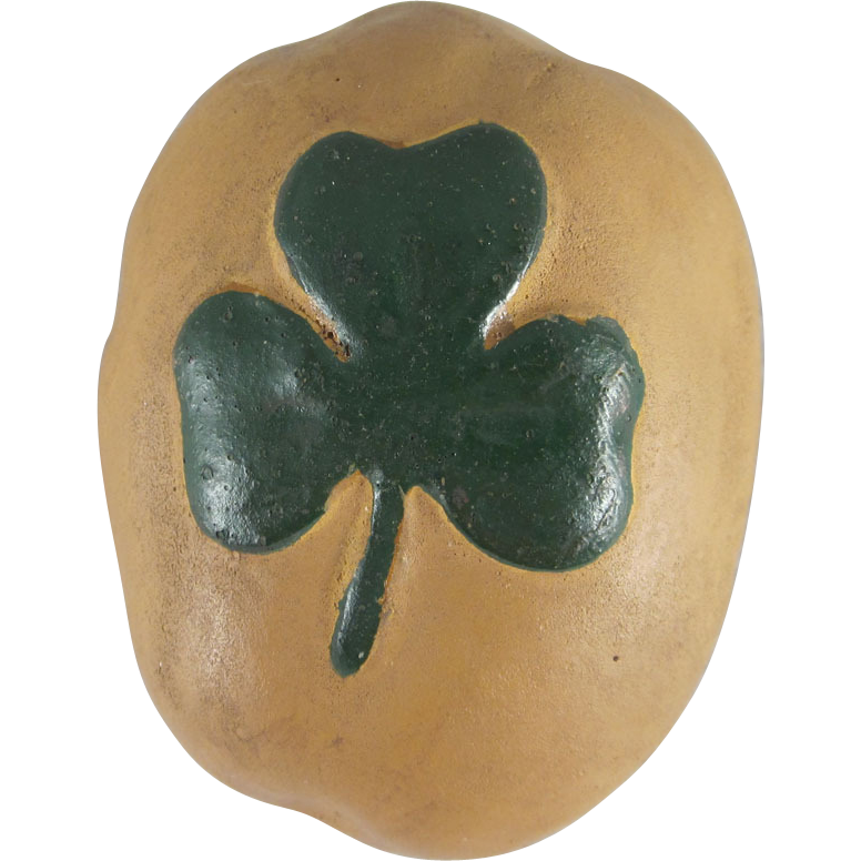 St. Patrick's Day Made in Germany Potato Candy Container