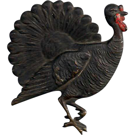 Fine Detailed Embossed Flat Metal Turkey Piece