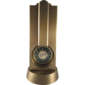 Stnola Art Deco Tower Clock and Lamp