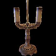 Art Deco Cast Iron Table Lamp