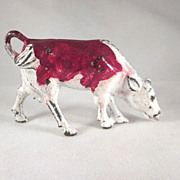 Manoil Metal Cow Eating Toy Figure