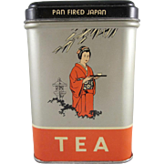 Ferndell Pan Fired Japan Tea Tin with Contents