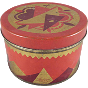 Luxor-Krasny Powder Art Deco Design Lithographed Tin Container