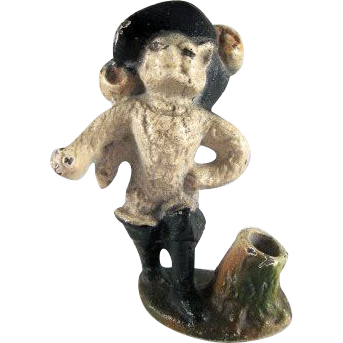 Hubley Puss-in-Boots Cast Iron Pencil Holder