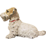 Hubley Cast Iron Sealyham Terrier Paperweight