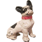 Hubley Cast Iron Sitting Boston Terrier Paperweight