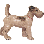 Vintage Hubley Cast Iron Fox Terrier 3 Dimensional Doorstop