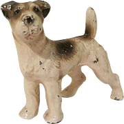 Vintage Hubley Cast Iron Fox Terrier Paperweight