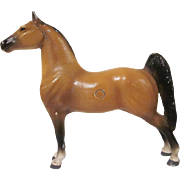 Vintage Hubley Cast Iron Chestnut Show Horse Doorstop