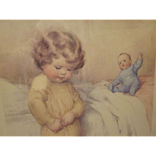 HOLD Bessie Pease Gutmann Just a Little Bit Independent Framed Print 1951 Version