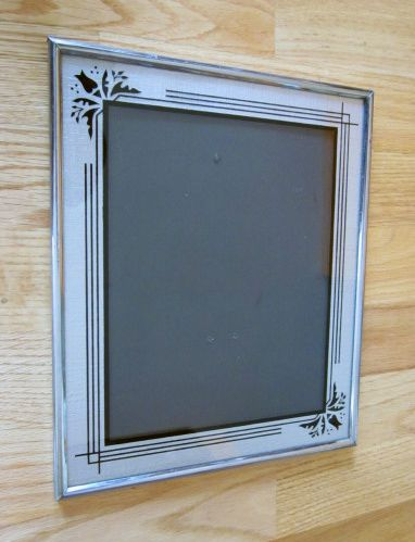 "Art Deco Frame Silver & Black 12"" x 10"""
