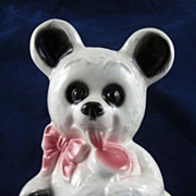 Royal  Copley White Bear with Lollipop Planter HTF