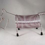 MCM Figural Scottie Dog Wire Letter Holder
