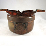 Hammered Copper Alaska Territory 'Shield' Souvenir Ash Tray