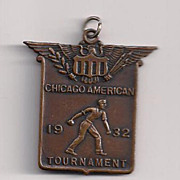 Chicago American  1932 Softball Fob