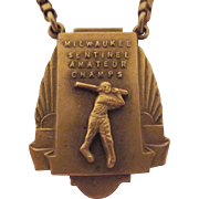 Art Deco Milwaukee Sentinel Amateur Baseball Champs Tie Bar