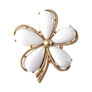 Crown Trifari Flower Brooch