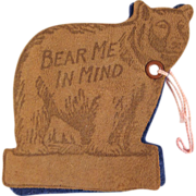 Figural Bear Needle Book Souvenir