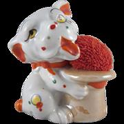 Made in Japan Lustre Bonzo Type Dog Pincushion