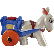 Made in Japan Lustre Horse Pulls a Cart Pincushion