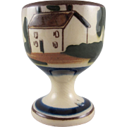 Torquay Motto Ware Single Egg Cup with the Cottage Design #2