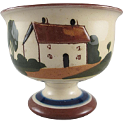 Torquay Motto Ware Cottage Design Pedestal Sugar Bowl