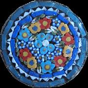 Micro Mosaic Round Italian Brooch